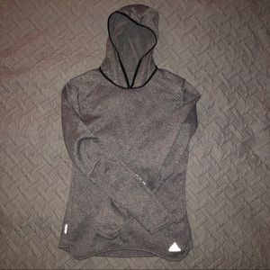Adidas Climalite Hooded Fleece Longsleeve